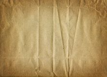 Old paper. Old crumbled brownish paper texture Royalty Free Stock Image