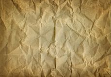 Old paper. Old crumbled brownish paper texture Stock Photography