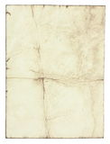 Old paper. Stained old paper with rough edges Royalty Free Stock Photos
