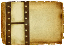 Old paper. Background with film strip Royalty Free Stock Photos