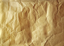 Old paper. Old yellow paper texture. blank crumpled background Stock Photos