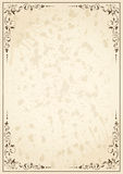Old paper. Old grunge paper with floral elements, illustration royalty free illustration