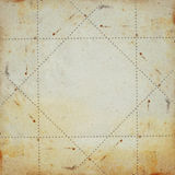 Old paper. Old yellow paper grunge background. Dotted lines square frame illustration royalty free stock image