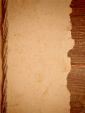 Old paper. On border wood background royalty free stock image