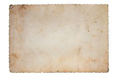 Old paper. Very old,blank paper.A blank page from an old book Royalty Free Stock Photography