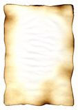Old paper. The burnt sheet of the old paper which burnt out under beams of the scorching sun and has turned yellow from time. The photo is isolated on a white Royalty Free Stock Photos