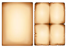 Old paper. Vector image old yellowing of paper Stock Photography