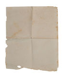 Old paper. Isolated on white background Stock Images