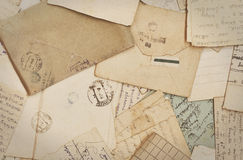 Old paper. Old letters and envelopes, old paper royalty free stock photo