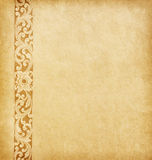 Old  paper. With floral border Stock Images