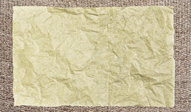 Old paper. On bamboo mat texture with natural patterns Royalty Free Stock Images
