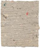 Old paper. A sheet of paper made of recycled old newspaper royalty free stock image