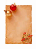 Old Paper-32. Message Space For Xmas Stock Image