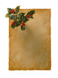 Old Paper-33. Message Space For Xmas Stock Photo
