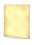 Old  paper. Old paper with the twirled corner and torn edges for background.  Isolated over white Royalty Free Stock Image