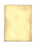 Old  paper. Old  rough paper with torn edges for background.  Isolated over white Stock Photo