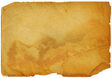 Old paper. Grungy paper, coloured orange for a kind of burnt effect Stock Photos