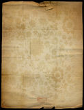 Old  paper. Vintage paper on the grunge wall - empty old dirty Stock Images