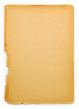 Old paper. Piece of old yellowish paper royalty free stock photos