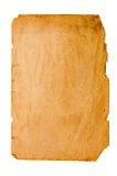 Old paper. Yellow old paper on white Royalty Free Stock Photography