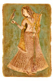 Old paper with ancient Indian picture. On a photo:Old paper with ancient Indian picture royalty free stock images