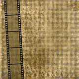 Old paper with ancient ornament. And filmstrip Stock Photo
