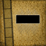 Old paper with ancient ornament. And filmstrip Royalty Free Stock Photos