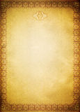 Old paper backdrop with old-fashioned decorative border. Royalty Free Stock Photos