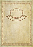Old paper backdrop with old-fashioned decorative border. Royalty Free Stock Photography