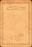 Old paper backdrop with old-fashioned decorative border. Stock Photo