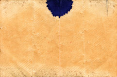 Old Paper Background with Blue Ink Spot Royalty Free Stock Image