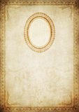 Old paper background with decorative border and frame. Stock Photos