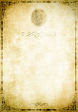 Old paper background with decorative border. Stock Photo