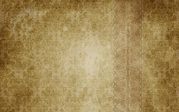 Old paper background with decorative vintage ornament. Royalty Free Stock Photos