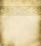 Old paper background with floral border. Stock Photo