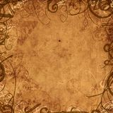 Old paper background with floral ornament. Illustration Royalty Free Illustration