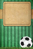 Old paper background football Stock Photos