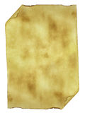 Old paper background parchment with curled burned Stock Images