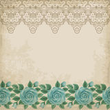 Old paper background with roses Royalty Free Stock Photography