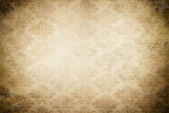 Old paper background with vintage patterns. Royalty Free Stock Images