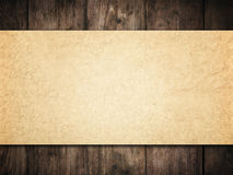 Old Paper Background on Wood Wall, Brown Papers Wooden Texture Stock Images