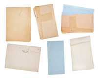 Old paper backgrounds set Stock Photos