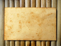 old paper on Bamboo Royalty Free Stock Photo