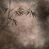 Old paper with bamboo branches vector illustration