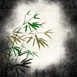 Old paper with bamboo branches Stock Images