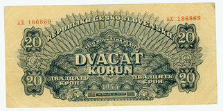 Old paper banknote money. Crown Royalty Free Stock Image
