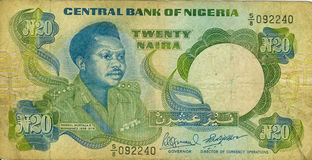 Old paper banknote money Niger Stock Image