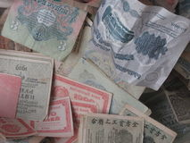 Old paper banknotes from Estonia Royalty Free Stock Photography
