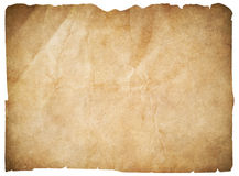 Old paper or blank pirates map isolated with clipping path Royalty Free Stock Photography