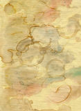 Old paper with blobs. Old grunge paper with blobs - grunge style royalty free stock photography